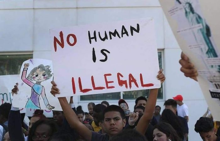Protest of no human is illegal.